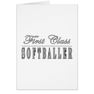 Première classe Softballer de Softballing et de So Cartes De Vœux