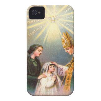 Première communion de carte sainte catholique coques iPhone 4