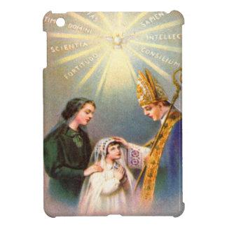 Première communion de carte sainte catholique étuis iPad mini