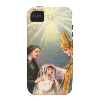 Première communion de carte sainte catholique vint coques Case-Mate iPhone 4