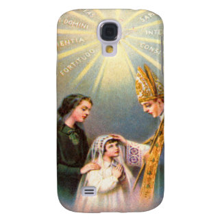 Première communion de carte sainte catholique vint