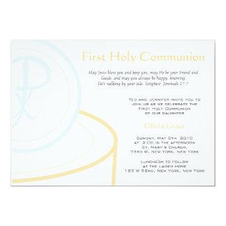 Première communion carton d'invitation  12,7 cm x 17,78 cm