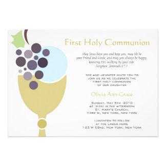 Première communion cartons d'invitation personnalisés