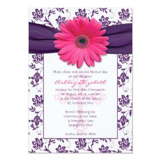 Première invitation de communion de marguerite carton d'invitation  12,7 cm x 17,78 cm