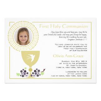 Première invitation de photo de communion