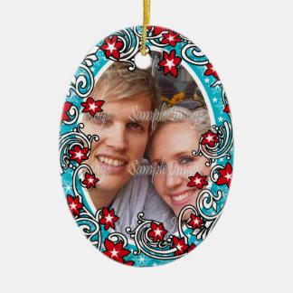 Première PHOTO de mariage de Noël Décorations Pour Sapins De Noël