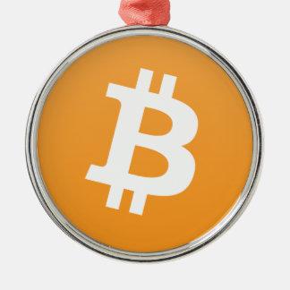 Premium Bitcoin Round Ornament