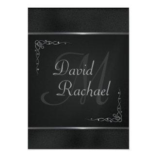 Premium Black and Silver Wedding Invitations