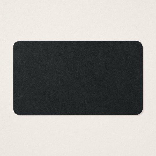 Premium Black Plain Minimalist Classical Design Business Card