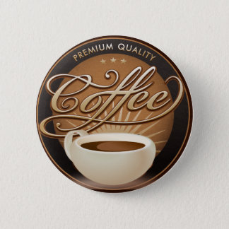 Premium Coffee and Coffee Cup 2 Inch Round Button