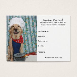 Premium Dog Food Business Card