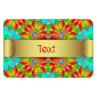Premium Flexi Magnet Floral Fractal Art G410