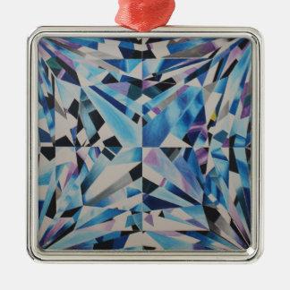 Premium Glass Diamond Square Ornament