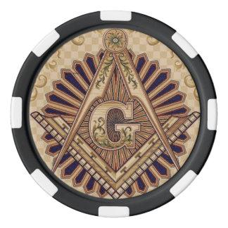 Premium Masonic Poker Chips