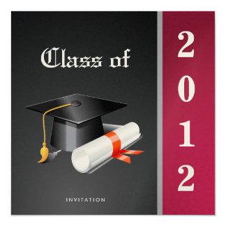 Premium Metallic Elegant Class of 2012 Graduation Card