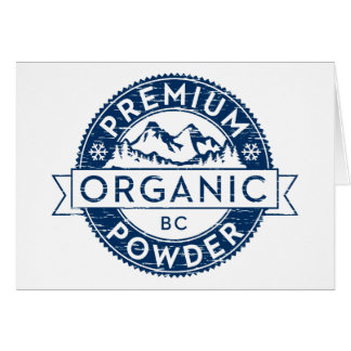 Premium Organic British Columbia Powder Card