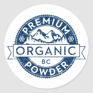 Premium Organic British Columbia Powder Classic Round Sticker