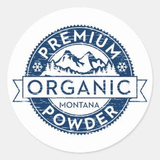 Premium Organic Montana Powder Classic Round Sticker