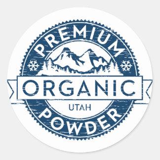 Premium Organic Utah Powder Sticker