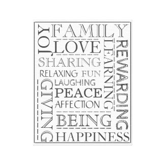 Premium Personalized Family Home Decor Stretched Canvas Print