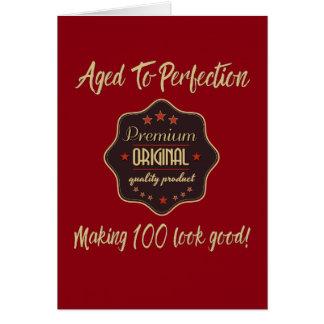 Premium Quality 100th Birthday Card