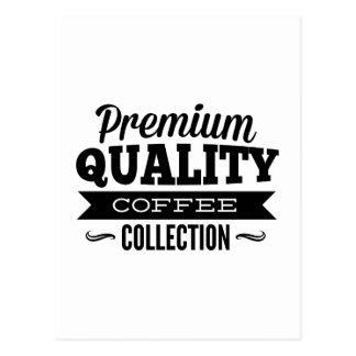 Premium Quality Coffee Collection Postcard
