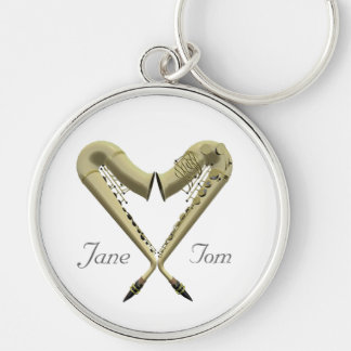 Premium Quality Romantic Heart Saxophone Keychain