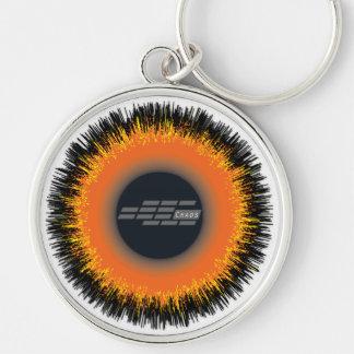 Premium Round Keychain CHAOS SUN
