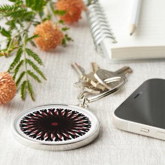 Premium Round Keychain RED/BLACK CIRCLE SUN