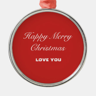 Premium Round Ornament - Happy Merry Christmas