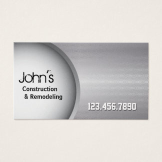 Premium Stainless Steel Construction Business Card