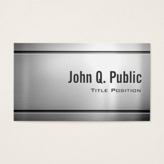 Premium Stainless Steel - Shiny Metal Look Business Card