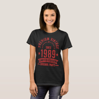 premium vintage since 1989 limited edition origina T-Shirt