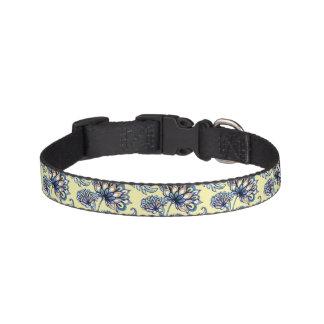 Premium watercolor hand drawn floral batik pattern pet collar