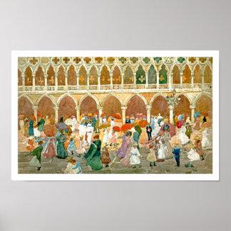 Prendergast: Sunlight in St. Mark's Square Poster