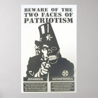 prenez garde de l'affiche de patriotisme poster