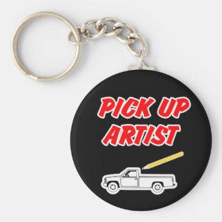 Prenez le porte - clé d'artiste porte-clé rond