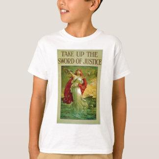 Prenez l'épée de la justice par la perdrix de t-shirt