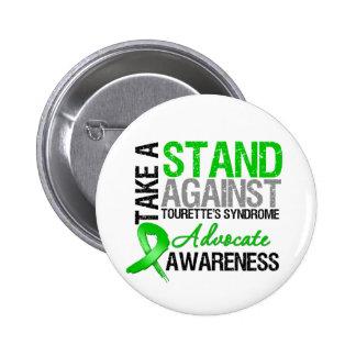 Prenez une position contre le syndrome de Tourette Macaron Rond 5 Cm
