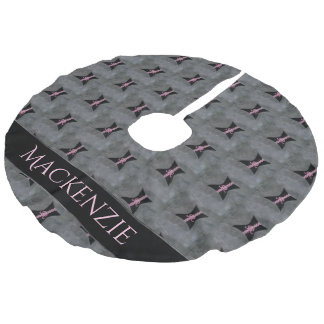 Preoccupied Holiday | Black Corset Breast Cancer Faux Linen Tree Skirt