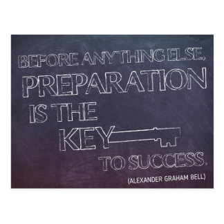 Preparation is the Key...Motivational Postcard