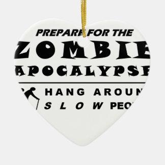 Prepare for the zombie ceramic heart ornament