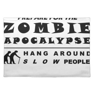 Prepare for the zombie placemat