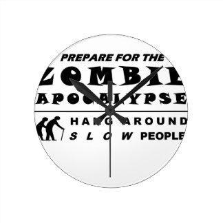 Prepare for the zombie round clock