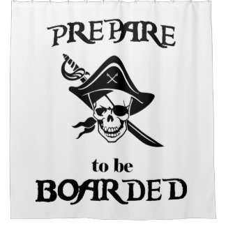 Prepare to be Boarded Black Pirate Skull and Sword