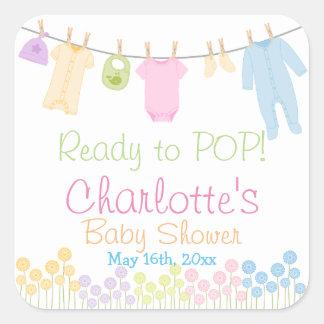 Préparez au POP ! Petite partie de baby shower de Sticker Carré