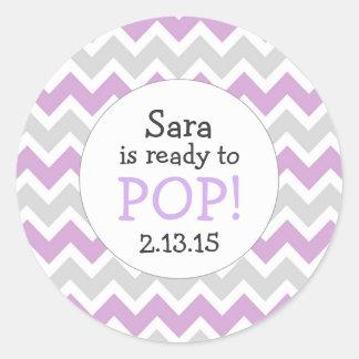 Préparez pour sauter la faveur de baby sticker rond