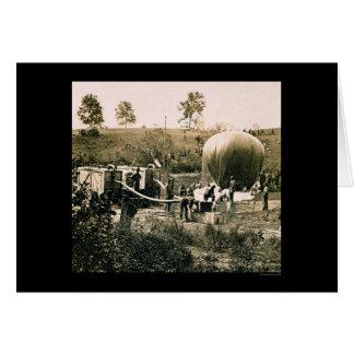 Preparing a Military Balloon, Gaines Mill, VA 1862 Greeting Card