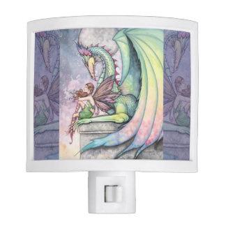 Preparing for Flight Fairy and Dragon Art Nite Lights
