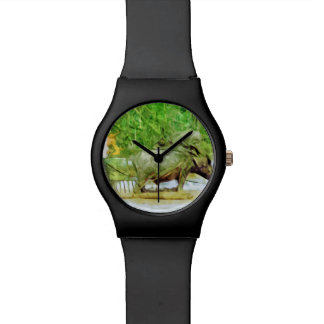 Preparing Rice Fields With Oxen Abstract Watch